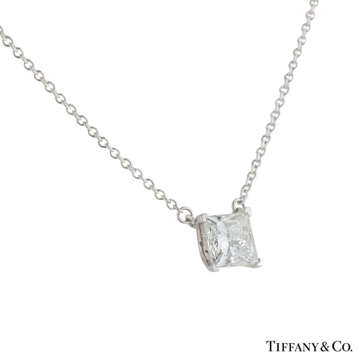 Tiffany & Co. Platinum Diamond Pendant 1.02ct I/VVS1